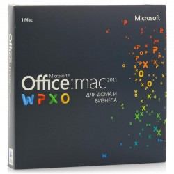 Microsoft Office 2011 Mac BOX Home and Business Rus