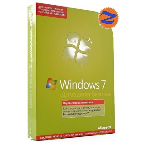 Microsoft Windows Home Basic 7 32-bit Russian Russia Only DVD