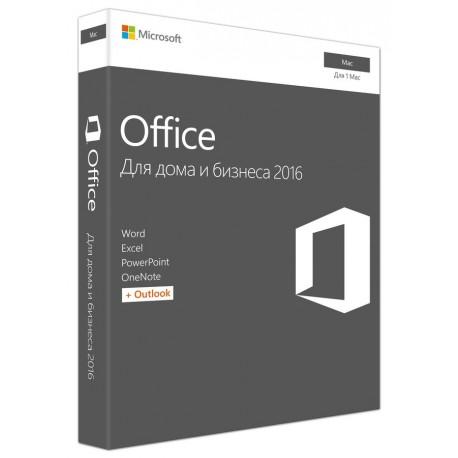 Microsoft Office для Mac для дома и бизнеса 2016, 32/64, Rus