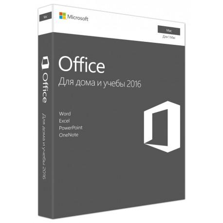 Microsoft Office для Mac для дома и учебы 2016, 32/64, Rus