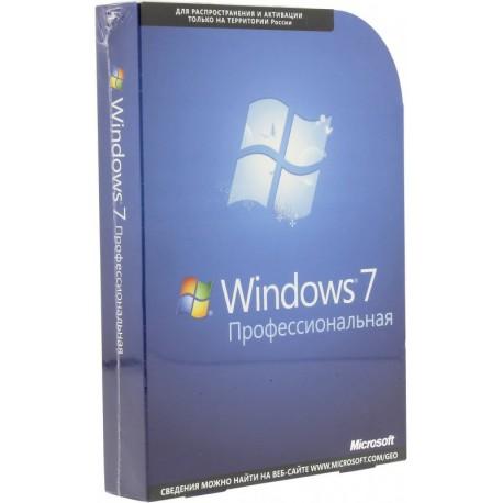 Microsoft Windows 7 BOX Professional коробочная SP1 DVD x32x64 COA