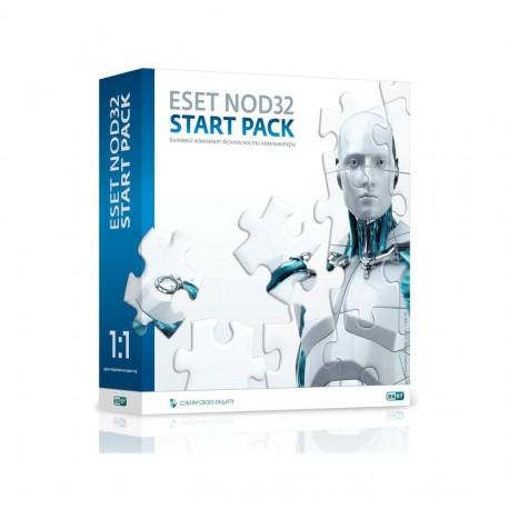 ESET NOD32 START PACK - базовый комплект безопасности компьютера, лицензия на 1 год на 1ПК