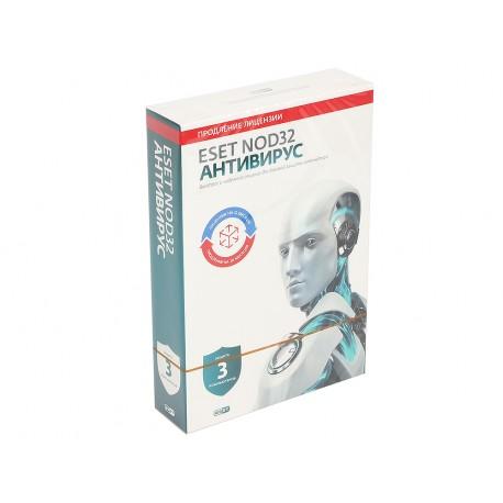ESET NOD32 Антивирус - продление на 20 месяцев или новая лицензия на 1 год на 3 ПК