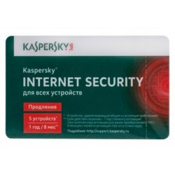 Kaspersky Internet Security Multi-Device Russian Edition. 5-Device 1 year Renewal Card