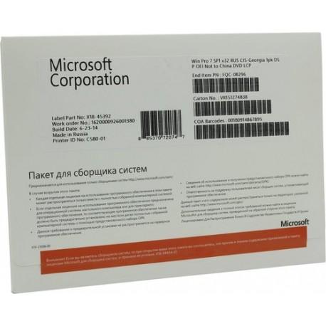 Microsoft Windows 7 OEM Professional 32-bit Russian CIS and Georgia